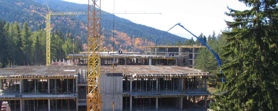 STRUCTURAL DESIGN: Semiramida Gardens Hotel and Residential Complex, Borovets-Construction of flat slabs