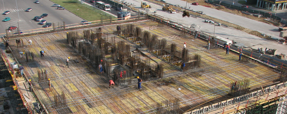 STRUCTURAL DESIGN: Capital Fort, Sofia-Construction of post tensioned flat slab